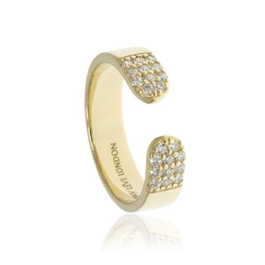 RT-6/G - Open Ring with Cubic Zirconia