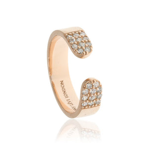 RT-6/R - Open Ring with Cubic Zirconia