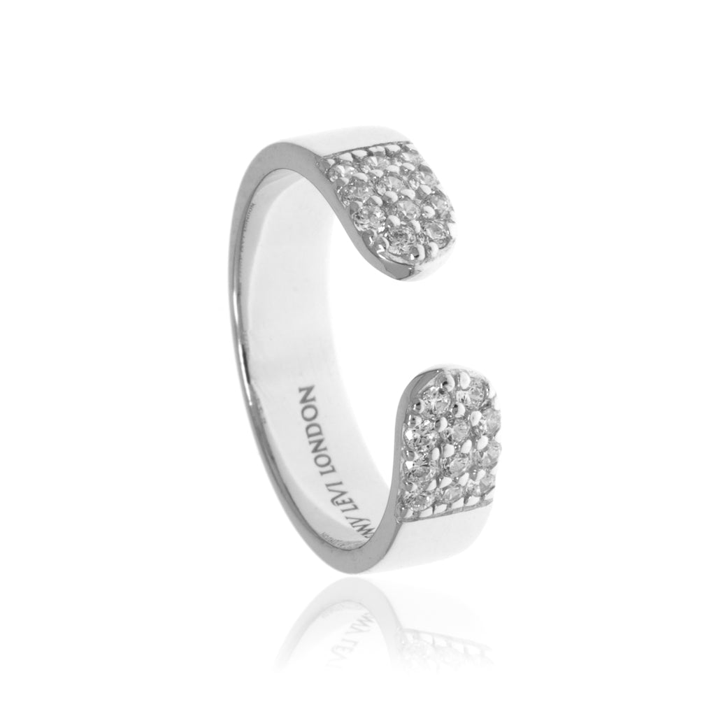 RT-6/S - Open Ring with Cubic Zirconia