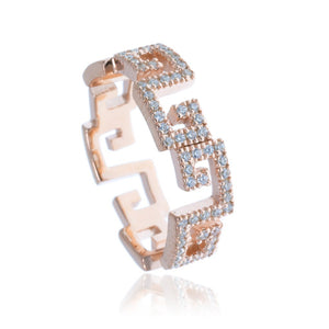 RT-22/R - Zig Zag Pave Ring