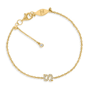 "BT-26/G/S - Initial ""S"" Bracelet Adjustable Size"