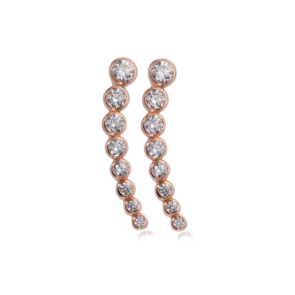 EK-55/R - Cubic Zirconia ear cuff earrings