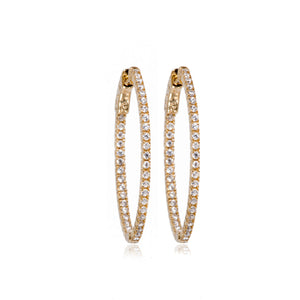 EH-91/G - Cubic Zirconia Hoop Earrings