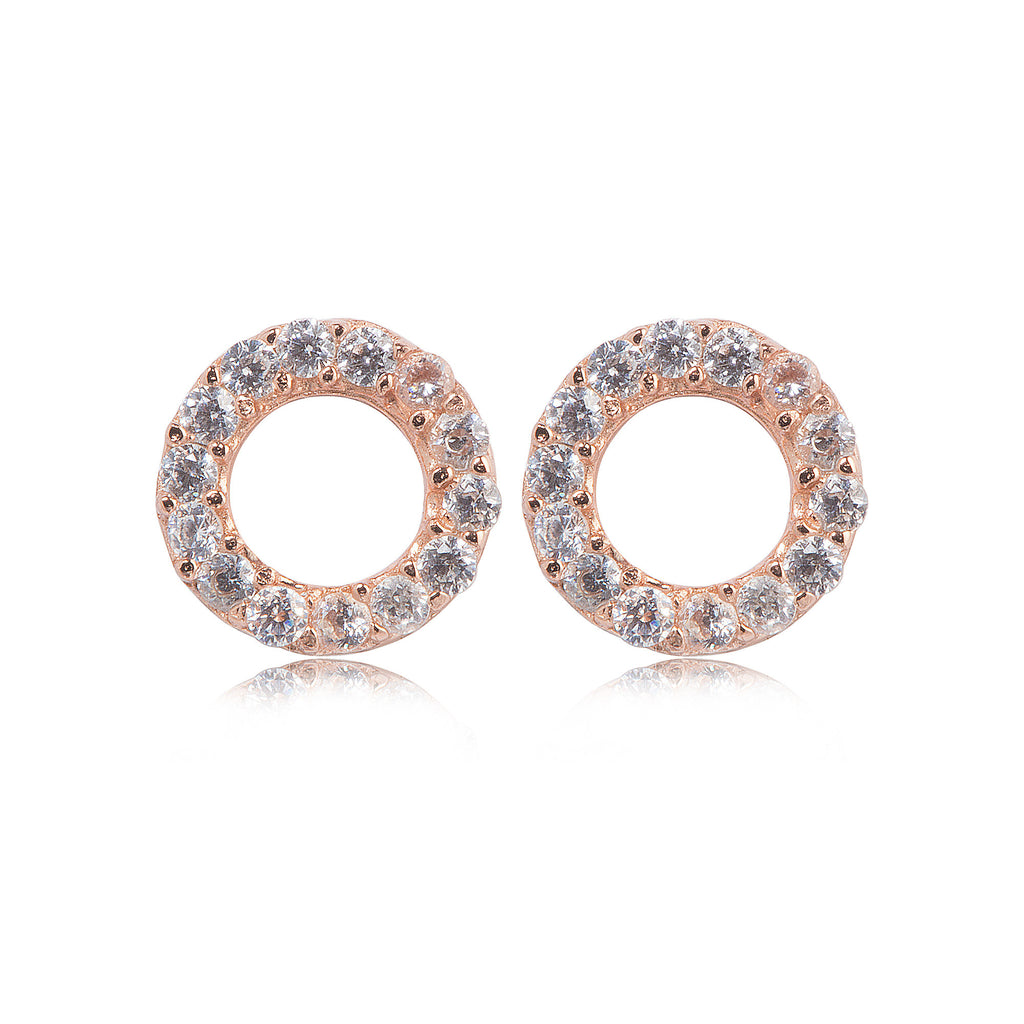 EK-45/R -  Small open stud earrings