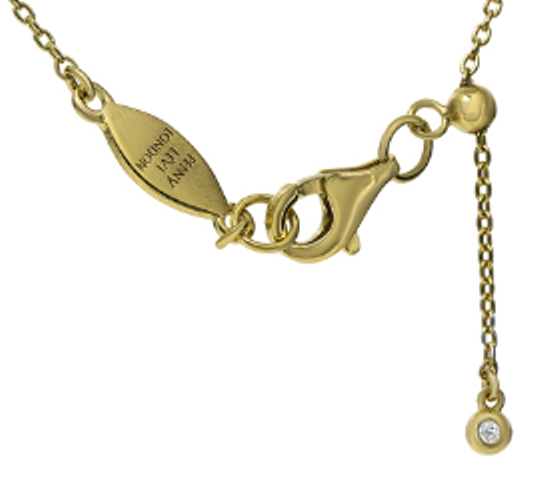 "NT-26/G/N -  Initial ""N"" Necklace with Sliding Length Adjuster"