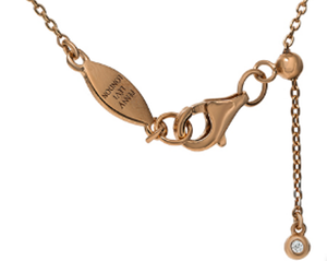 NT-48/R - Chain Necklace with Pave Teardrop