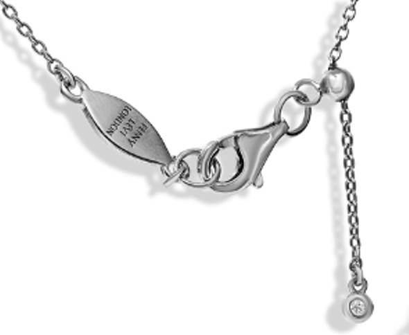 "NT-26/S/M - Initial ""M"" Necklace with Sliding Length Adjuster"