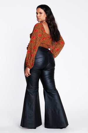 Vegan Leather Flares