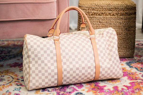 Vacay Duffle Bag- Cream