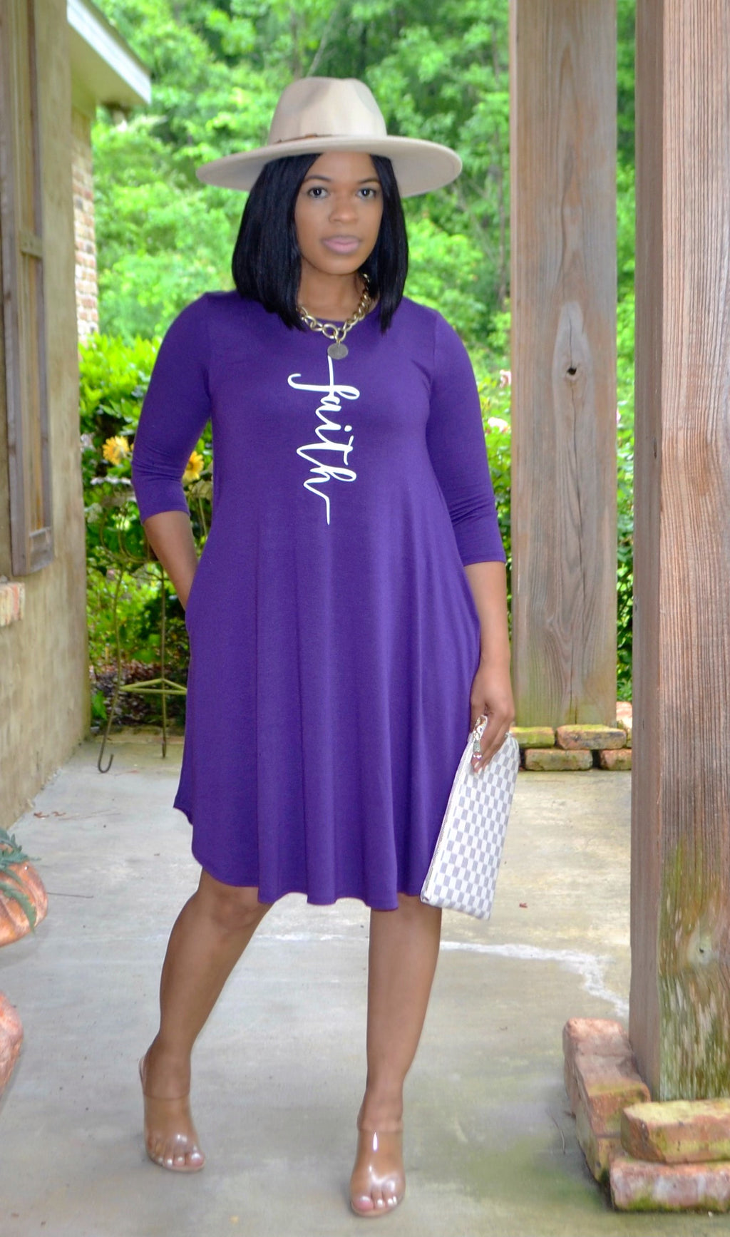 Faith Swing Dress- Purple