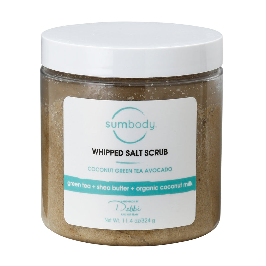 Coconut, Green Tea, Avocado Whipped Salt Scrub