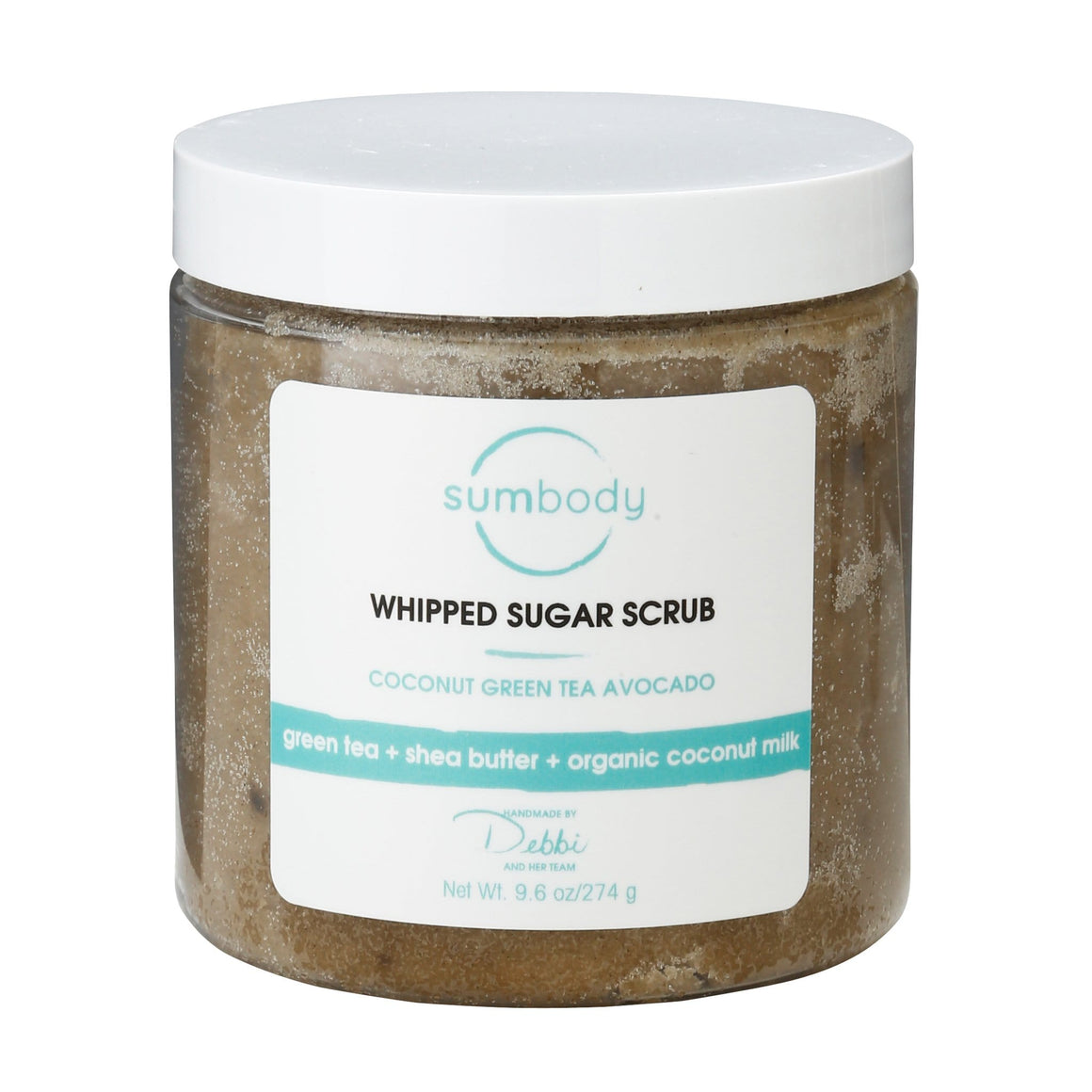 Coconut, Green Tea, Avocado Whipped Sugar Scrub