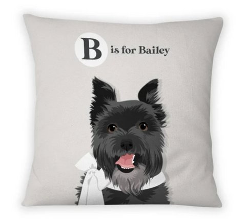 Custom Pet Portrait Pillow for Nursery