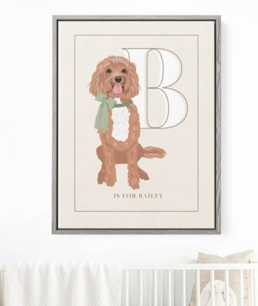 Custom Pet Portrait Art for Nursery