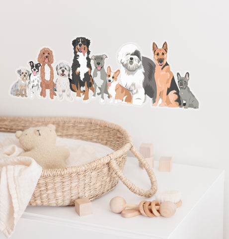 Dog Decal for Nursery Wall