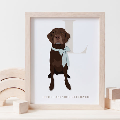 Alphabet Dog Breed - L is for Labrador Retriever