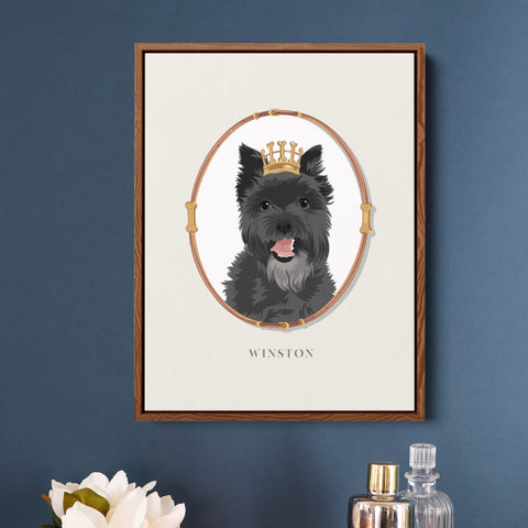 Pet Portrait Art - Royal Paw-digree - Beige