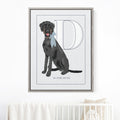 Pet Portrait Alphabet Art - Misty Blue