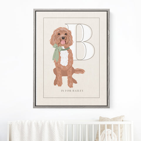 Pet Portrait Alphabet Art - Custom Color to Match Nursery