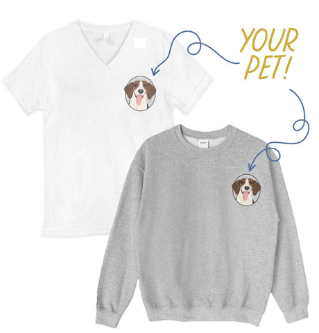 Pet Portrait Set with T-shirt and Sweatshirt - Adult Loungewear Set