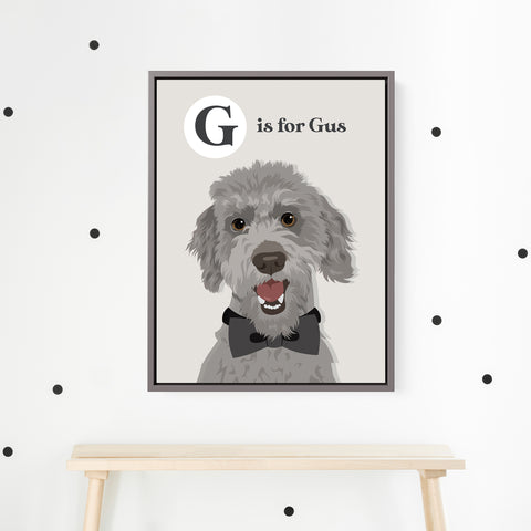 Pet Portrait Alphabet Art - Vintage Style