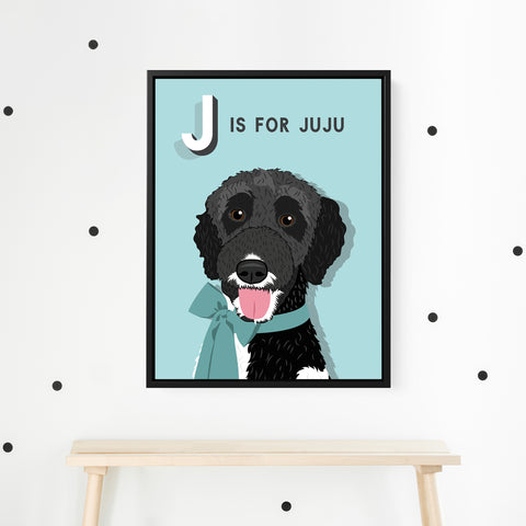 Pet Portrait Alphabet Art - Pop Style
