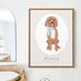 Pet Portrait Nursery Art - Classic Oval for Neutral Nursery