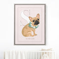 Pet Portrait Alphabet Art - Blush