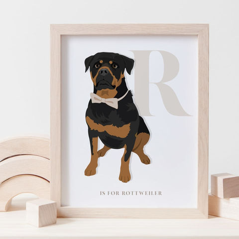 Alphabet Dog Breed - R is for Rottweiler