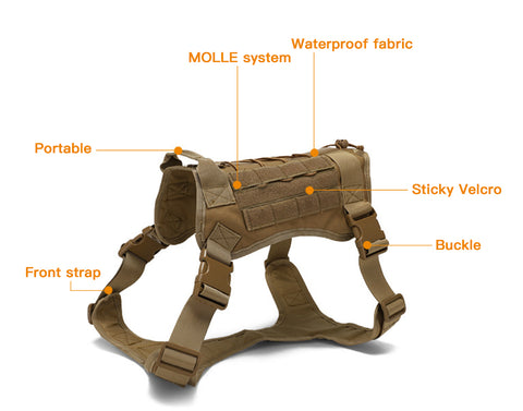 tactical harness dog