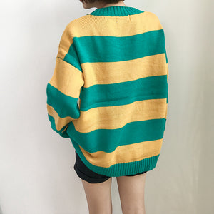 Green&Yellow sweater - duppydu