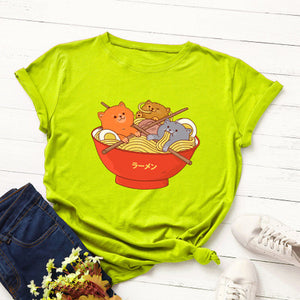 """Kawaii Ramen"" T-shirt (two colors) - duppydu"
