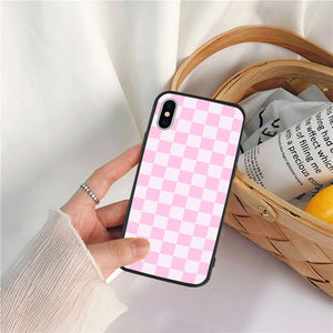 Pink squares iPhone case - duppydu