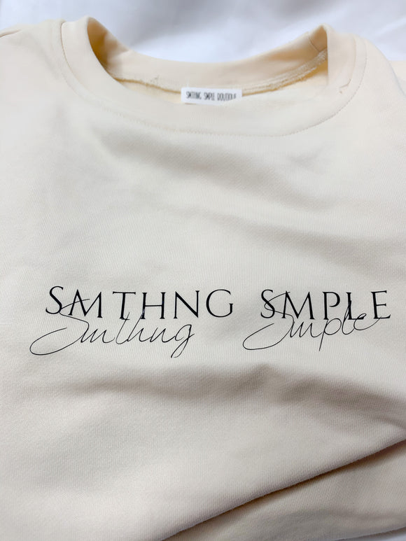 Smthng Smple Crewneck and Shorts Oversize Set