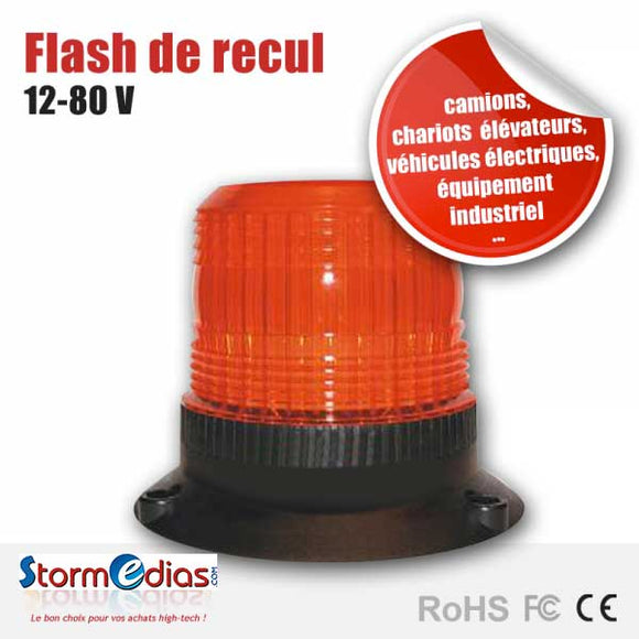 Gyrophare flash de recul 12 - 80 V