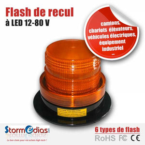 Gyrophare flash de recul à Led 12 - 80 V