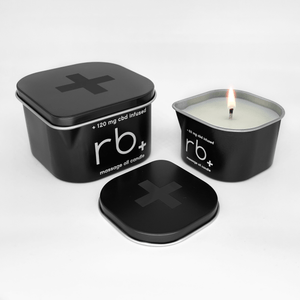 Load image into Gallery viewer, rb+ unscented massage candle
