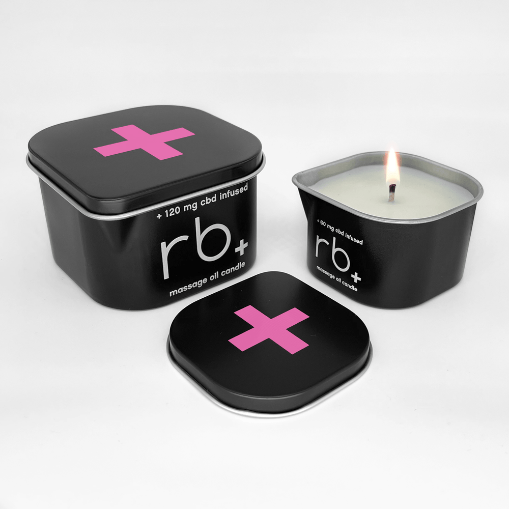 rb+ rose/sage massage candle