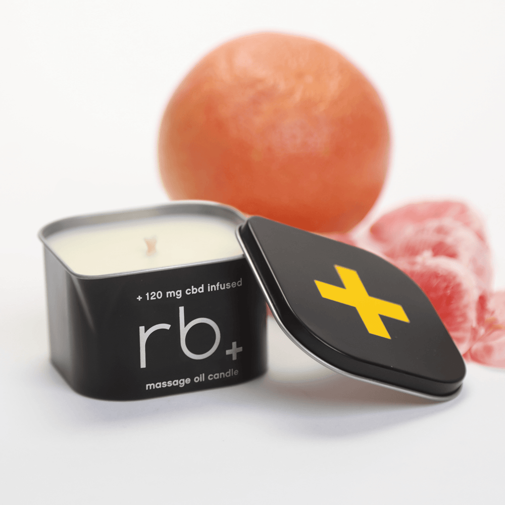 Load image into Gallery viewer, rb+ grapefruit massage candle