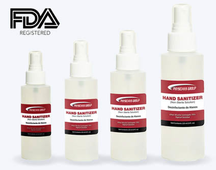 Hand Sanitizer Family with FDA Logo