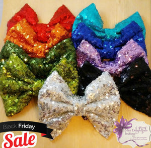 sequin bow set