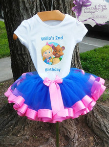 Ribbon trimmed  tutu set