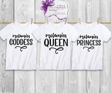 Load image into Gallery viewer, Melanin Queen tshirt
