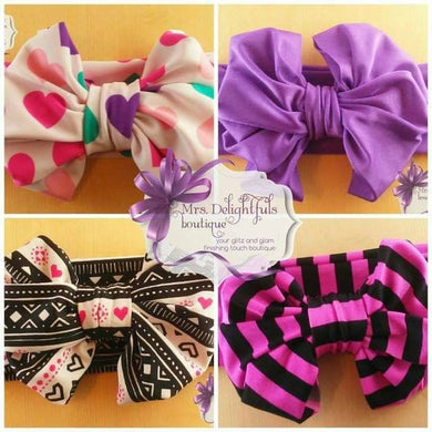 messybow headbands/ headwrap
