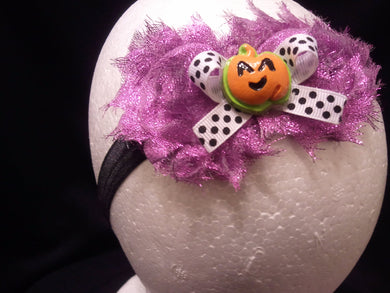 Giltter Girly Purple Halloween Headbands