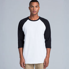 AS Colour Raglan Tee - White / Black