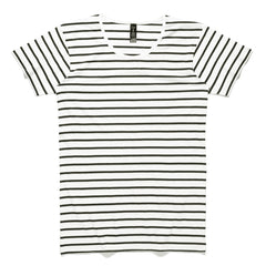 AS Colour Wire Stripe Tee - Natural / Black