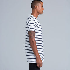 AS Colour Wire Stripe Tee - Black / Natural