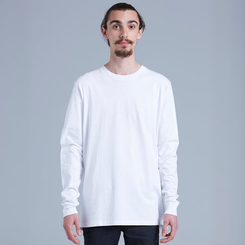 AS Colour Base Long Sleeve Tee - White