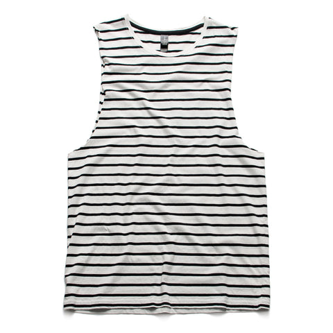 AS Colour Barnard Stripe Tank - Natural / Black
